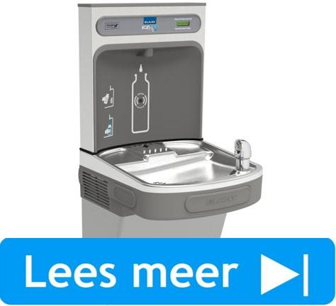 EZH2O waterfles vulstation met drinkwaterfontein